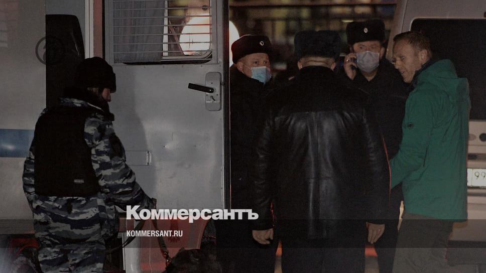 Алексей Навальный арестован на выезде