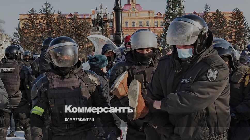 На акциях в поддержку Навального на Дальнем Востоке задержаны больше 100 человек