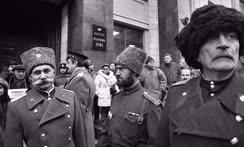 Митинг казаков на площади перед зданием Государственной думы