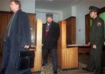 Муфтий Чечни Ахмат-Хаджи Кадыров (в центре) перед началом очередного заседания Государственной думы