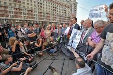 Когда коммунистам не хватало места в Думе, они выходили на Охотный Ряд