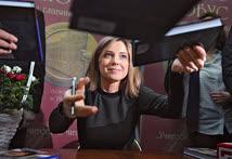 Зампред комитета Государственной думы по безопасности и противодействию коррупции Наталья Поклонская на презентации своей книги