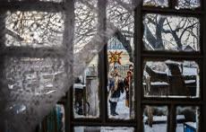 Январь. Белоруссия. Рождественские колядные гулянья в деревне Сторожовцы