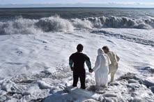 Январь. Алушта. Крещенские купания в Черном море