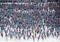 Февраль. Химки. Старт соревнования «Московская лыжня-2017»