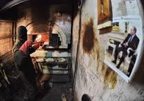 Апрель. Москва. Церемония выпекания мацы для праздника Песах в мацепекарне ешивы «Огалей Яаков»