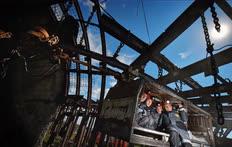 Август. Кемеровская область. Рабочие на шахте «Талдинская-Западная» в селе Большая Талда
