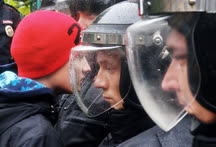Октябрь. Самара. Акция в поддержку оппозиционера Алексея Навального на площади Кирова