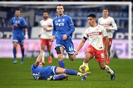 Russian Premier League (RPL). Matchday 20. Match between Dynamo (Moscow) and Spartak (Moscow) at the VTB Arena stadium.