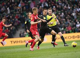 Russian Premier League (RPL). Matchday 20. Match between Krasnodar (Krasnodar) and Ufa (Ufa) at the Krasnodar Stadium.