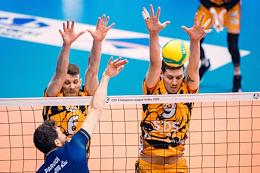 Volleyball Champions League. Quarterfinal. Match between Kuzbass (Kemerovo, Russia) and Zaksa (Poland).