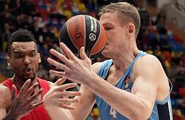 Euroleague Basketball. Match between CSKA (Moscow) and Zenit (Saint Petersburg) in the Megasport Sports Palace.