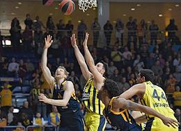 Euroleague Basketball. Match between Khimki (Khimki, Russia) and Fenerbahce (Istanbul, Turkey) in the Mytishchi Arena Sports Complex.