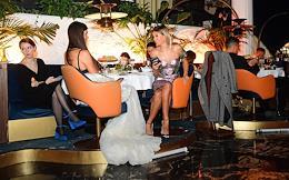 First screening of Westworld Season 3 in the Voskhod restaurant.