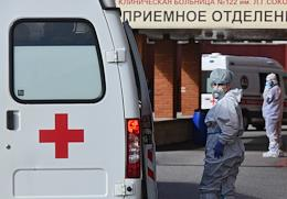 Emergency Room of Clinical Hospital № 122 named after L. Sokolov of the FMBA of Russia that admits suspected coronavirus COVID-19 patients since May 13.