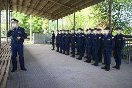 Recruits at the transit point.