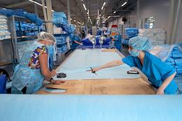 Production site of Zdravmedteh-N in the city of Berdsk, Novosibirsk Region. Zdravmedteh-N produces disposable medical clothing, personal protective equipment and surgical kits used in the provision of various types of medical care
