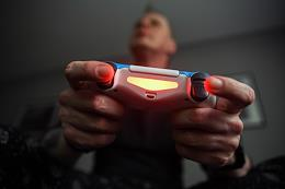 Self-isolation regime caused by the danger of the coronavirus COVID-19 spread. Genre photo. Video games.