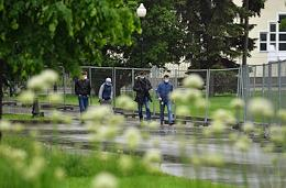 Moscow during self-isolation regime caused by the danger of the coronavirus COVID-19 spread. People walk in the parks of Moscow.