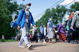 Velikoretsky Sacred Procession during the coronavirus pandemic.