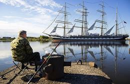 Kruzenshtern Barque enters Kaliningrad port after the transatlantic voyage, which took place as part of the Sails of the World Round-the-World Expedition of Rosrybolovstvo sailing-ships dedicated to the 200th anniversary of the discovery of Antarctica and the 75th anniversary of Victory in the Great Patriotic War.
