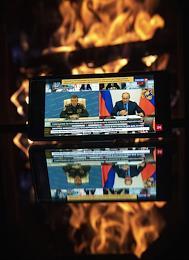 Genre photography. Russian President Vladimir Putin held a videoconference on measures to clean up the diesel fuel spill in the Krasnoyarsk Region.