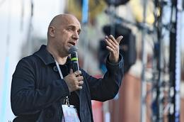 Red Square 2020 book festival dedicated to the Russian Language Day and the birthday of Alexander Sergeyevich Pushkin. Day 2. Meeting with Russian writer Zakhar Prilepin.