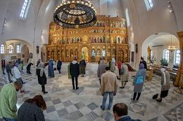 Feast of the Holy Trinity (Pentecost). Divine Liturgy in the Cathedral of the Theodore Icon of the Mother of God in memory of the 300th anniversary of the Romanov dynasty (Theodore Cathedral).