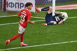 Russian Premier League (RPL). Russian Football Championship 2019/2020. Matchday 26. Match between Spartak (Moscow) and Tambov (Tambov) at the Otkritie Arena.