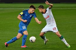 Russian Premier League (RPL). Russian Football Championship 2019/2020. Matchday 26. Match between Lokomotiv (Moscow) and Sochi (Sochi) at the RZD Arena stadium.