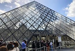 The Louvre reopened after quarantine caused by the danger of the coronavirus COVID-19 spread.