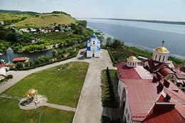 Kazan Monastery of the Holy Mother of God in Vinnovka village, Stavropol district, Samara province. Monks breed sterlet in their own workshop in the area of the monastery. Release of young fish into the Volga.