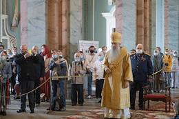 Festive service in the Peter and Paul Cathedral on the the Feast of the Holy, Glorious and All-praised Leaders of the Apostles, Peter and Paul.