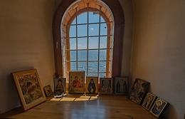 Views of the Kamenny Monastery. Kubensky lake. Vologda diocese.