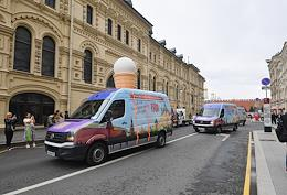 Charity event 'GUM-Ice Cream for Doctors!' The event, dedicated to the medical workers who fought the coronavirus pandemic, was held at GUM and the Sklifosovsky Research Institute of Emergency Medicine.