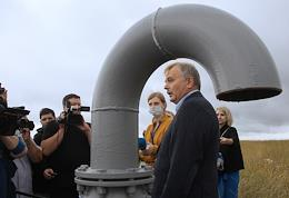 Press tour of the objects of Accumulated Environmental Damage: White Sea, Black Hole and Igumnovsky SDW landfill.