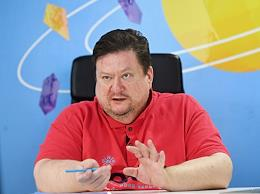 CEO of New Cloud Technologies Dmitry Komissarov speaks during an interview.