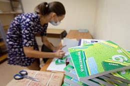 Preparations for the new school year in a Volgograd school.
