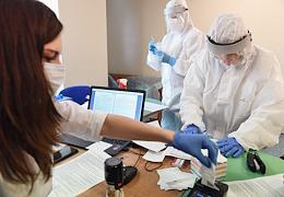Launch of EMG System Express Coronavirus Testing for passengers at Vnukovo Andrei Tupolev International Airport.