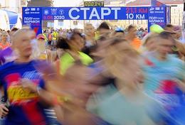 Northern Capital Half Marathon in the historic center of St. Petersburg.