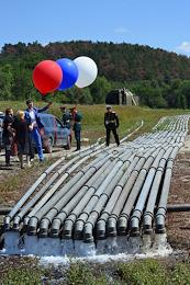 Launch of 15 pipelines laid by the logistics units of the Southern, Western and Eastern military districts to connect the Taigan and Simferopol reservoirs. Deputy Defense Minister General Dmitry Bulgakov, Head of Crimea Sergey Aksyonov and Commander of the Black Sea Fleet, Vice Admiral Igor Osipov attended the launch ceremony.