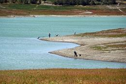 Less than 20% of water remains in the Simferopol reservoir, which supplies the city with drinking water.