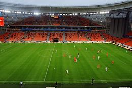 Russian Premier League (RPL). Russian Football Championship 2020/2021. Matchday 1. Match between Ural (Ekaterinburg) and Dynamo (Moscow) at the Ekaterinburg Arena stadium.