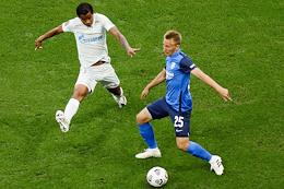 Russian Premier League (RPL). Russian Football Championship 2020/2021. Matchday 1. Match between Rotor (Volgograd) and Zenit (St. Petersburg) at the Volgograd Arena stadium.