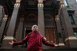 Festive events dedicated to the 105th anniversary of the Datsan Gunzechoinei Buddhist temple in St. Petersburg.