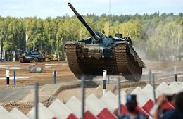 ARMY-2020 International Military-Technical Forum. International Army Games 2020 and demonstration program at the Alabino Training Ground.