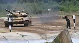 The ARMY 2020 International Military and Technical Forum at the Patriot Convention and Exhibition Center and the International Army Games 2020 at the Alabino training ground. Tank biathlon - Individual race.