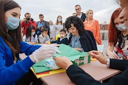 Kind People Annual festival in the Muzeon Park. Secretary of the Civic Chamber of the Russian Federation Lidia Mikheeva takes part in the festival.