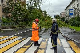 The aftermath of September 10 storm in St. Petersburg.