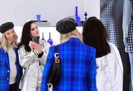 Dior boutique opening in Stoleshnikov Lane.